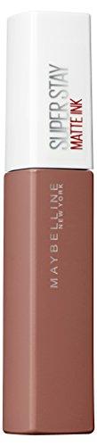 Maybelline New York Lippenstift, Super Stay Matte Ink Un-Nudes, Flüssig, matt und langanhaltend, Nr. 65 Seductress, 5ml
