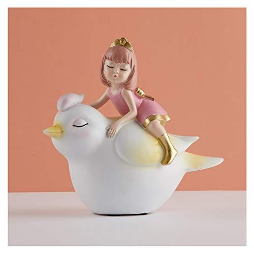 NYKK Ornamento de Escritorio Linda Creativa joyería Bird Girl cumpleaños Salón Dormitorio...