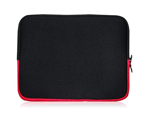 Sweet Tech SCHWARZ/ROT Laptop Schutzhülle Laptoptasche Neoprene, Sleeve Case Laptophülle Notebook Hülle Tasche für HP ProBook 430 G6 Laptop 13.3 Inch