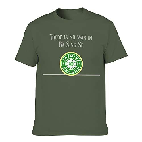 Jasmine Dragon Tea Shop Uncle Iroh Print Men's T-Shirt Short Sleeve Cotton Adult Active T-Shirt - Green - M
