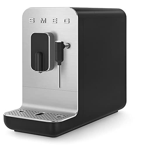 Smeg BCC02BLMEU - Cafetera automática compacta con función vapor, color negro