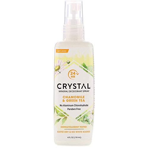CRYSTAL ESSENCE - Body Spray Chamomile Green Tea - 4 fl. oz. (118 ml)