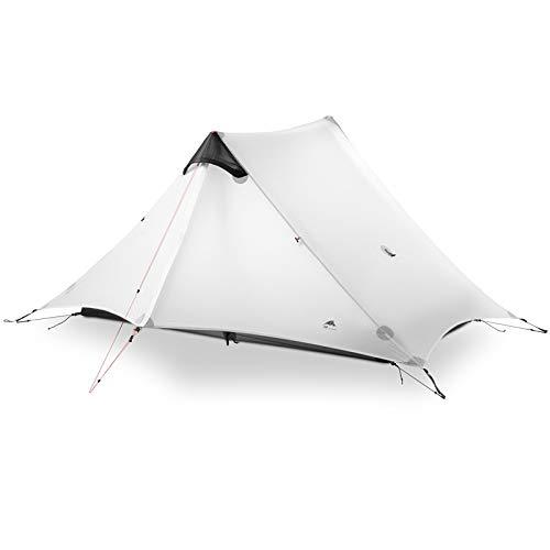 JSWFZ 2 Zelt 2 Person Oudoor Ultralight Camping-Zelt 3 Saison Professionelle 15D Silnylon Rodless Zelt 4 Saison (Color : 2P Gray 4 Season)