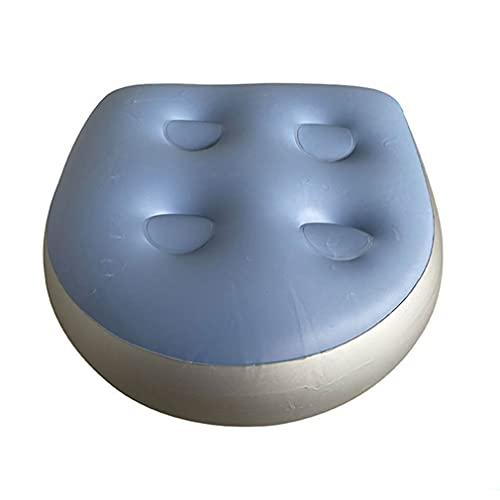 Cojín de bote inflable Multifuncional Bañera de hidromasaje Multifuncional Bañera de refuerzo Bañera suave Spa Almohada para adultos Niño Azul para juegos al aire libre