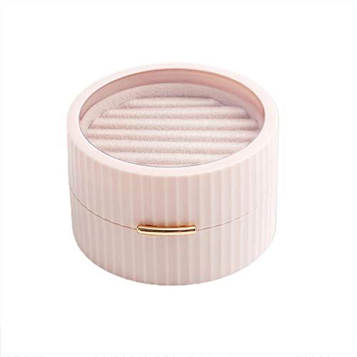 Chytaii Caja de Almacenamiento de Joyas Caja Joyero para Mujer Joyero Pequeña para Pendientes Anillos Collares Almacenamiento,Tapa Transparente,Doble Capa