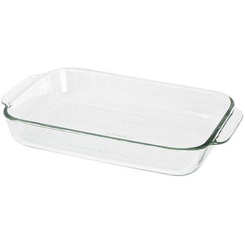 Pyrex Bakeware 2-Quart Oblong Baking/Serving Dish, Clear, 2.6