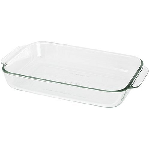 Pyrex, Dish Glass Oblong Blue