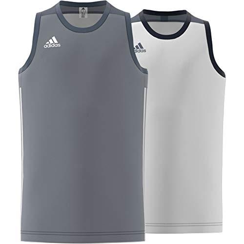 adidas 3G Spee Rev Jrs Camiseta Sin Mangas, Unisex niños, Onix/Blanco, 116