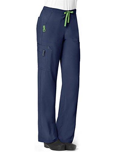 Carhartt Size Cross-Flex Women's Utility Scrub Pant, Navy, Medium Tall