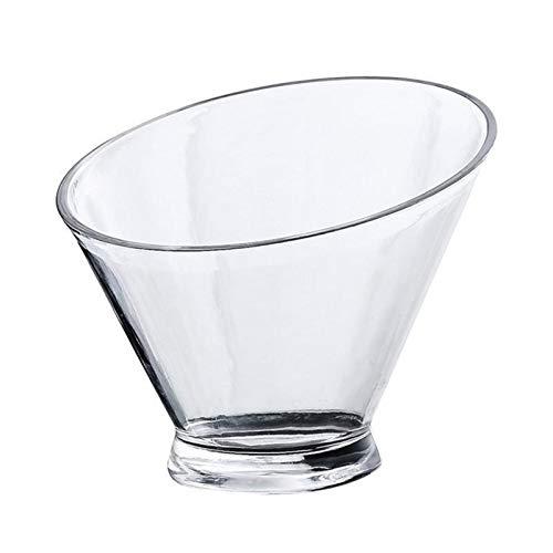Bowl 1PC Acrylic Slant Salad Bowl for Clear Snack Container Food Serving Bowls Bar Wine Serving Bowls for Dessert Fruit Vegetable Kitchen and Dining Room Lights (Size : 13.7cm)
