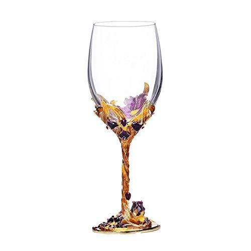 WanuigH Copa de Vino Tinto Crystal Esmalte Copa Transparente Vidrio Rojo Tallo de Vidrio de Vidrio para la Fiesta de la Barra de Inicio Decoración Elegante (Color : Clear, Size : 5x6.5cm)