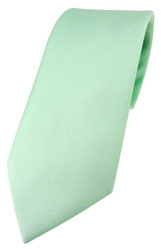 TigerTie Designer Krawatte in mint einfarbig Uni - Tie Schlips