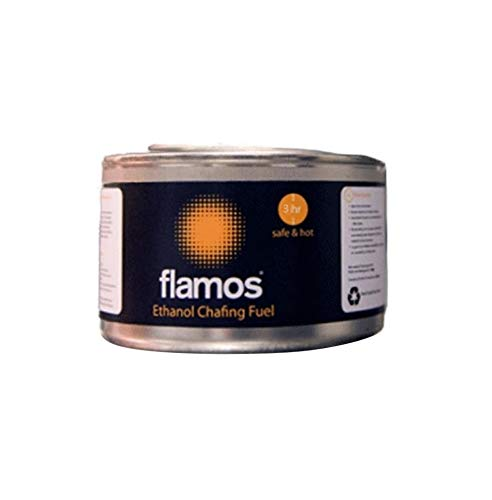 15x Dosen mit Flamos Ethanol-Gel, Chafing-Dish, Kraftstoff für 3St&en, Dose,  Mengenkaufpackung, Catering