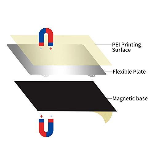 IJeilo 220mm 3D Printer Accessoires Hotbed Platform Steel Plate + Magnetic Sticker B Surface + PEI voor Wanhao Anet A8 A6 3D Printer XY-2 3D printers, als reserveonderdelen verbruiksartikelen