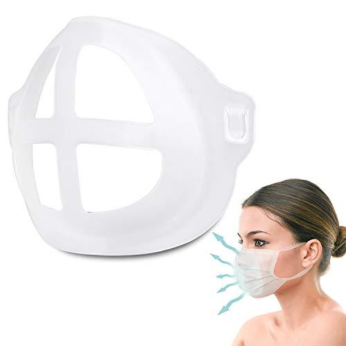 3D Face Mask Bracket Frame Support for breathing,Transparent Mouth Lipstick Frame,Washable Silicone Face Inner Mask Support,Reusable Face Mask Accessories(1PCS, Large for adult)