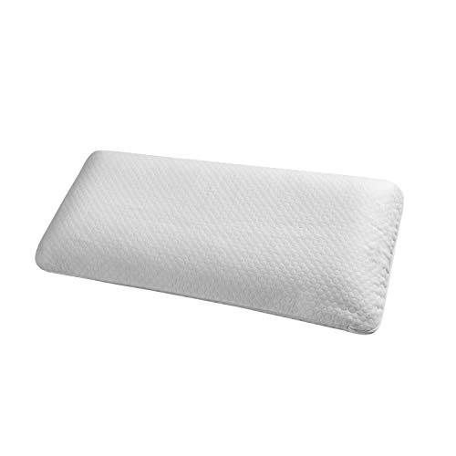 ABAKUHAUS Almohada Ortopédica de Visco Espuma Elástica, Relleno Amoldable Anti-Ronquido Respirable con Funda Interior de Microfibra y Funda Removible Lavable, 40 cm de Ancho x 80 cm de Largo, Blanco