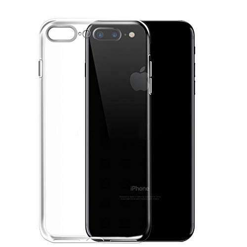 NEW'C Cover Compatibile con iPhone 7 Plus e iPhone 8 Plus, Custodia Gel Trasparente Morbida Silicone Sottile TPU [Ultra Leggera e Chiaro]
