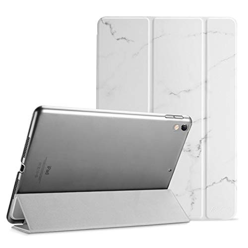 ProCase iPad Air 10.5' (3rd Gen) 2019 / iPad Pro 10.5' 2017 Smart Case Cover - Ultra Slim Lightweight Stand Case with Translucent Frosted Back, with Auto Sleep/Wake –Whitemarble