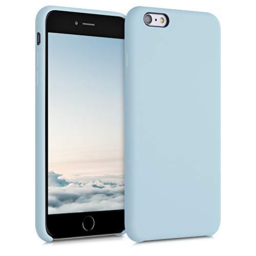 kwmobile Funda Compatible con Apple iPhone 6 Plus / 6S Plus - Funda Carcasa de TPU para móvil - Cover Trasero en Menta Helada