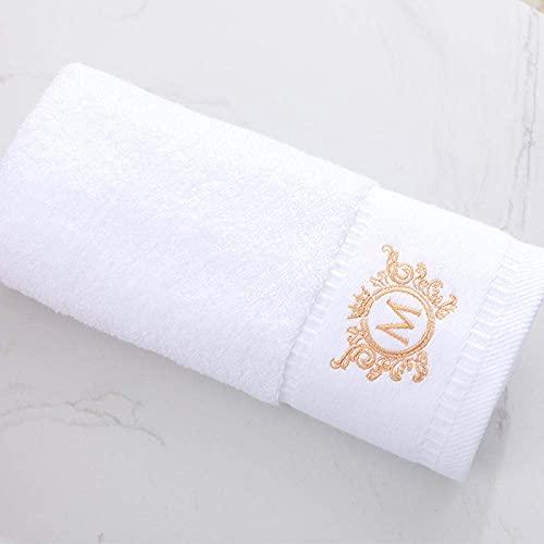 HGJINFANF Juego de toallas de baño 100% algodón de grado Facetowel Set de toallas de baño suaves de 80 x 160 cm (color: blanco Atenas M, tamaño: 35 x 78 cm, 150 g)