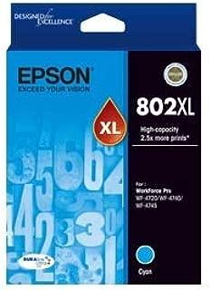 Epson 802Xl Cyan Ink Durabrite - Wf-4720, Wf-4740; WF-4745