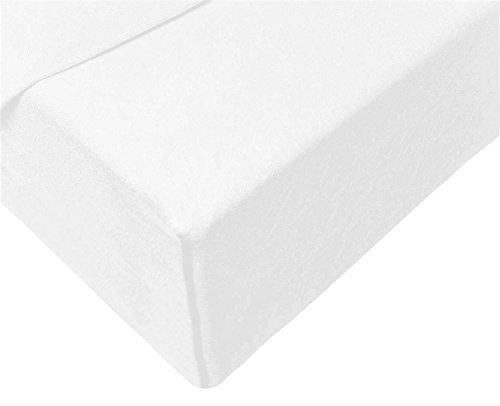 #3 Double Jersey Jersey Spannbettlaken, Spannbetttuch, Bettlaken, 160x200x30 cm, Weiß - 4
