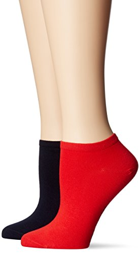 Tommy Hilfiger Frauen Sneaker Trainer Socken, Tommy Red, 39/42 (2er Pack)