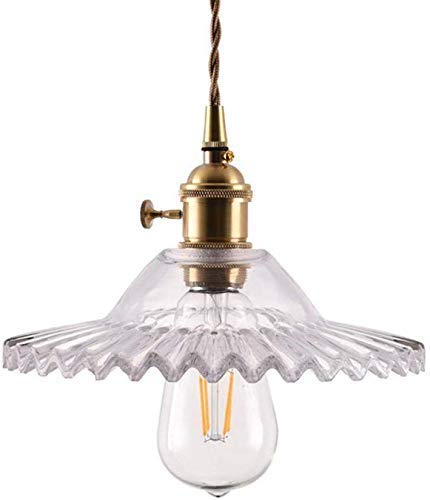 HLL Araña, Lámpara colgante industrial vintage con pantalla de vidrio gris Retro E27 Luz de techo de alambre flexible tejido Acabado en latón Iluminación colgante Lámpara minimalista moderna,Claro