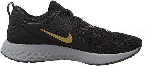 Nike Damen Wmns Legend React Laufschuhe, Schwarz (Black/Metallic Gold/Atmosphere 004), 38.5 EU
