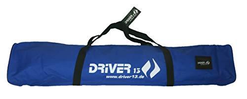 Driver13 ® Kinderskitasche Skisack für Ski Skistoecke, Kids Schitasche zum Aufbewahren und Transport beim Skifahren, wasserfest (auch Snowblades und Bigfoots) blau 120 cm