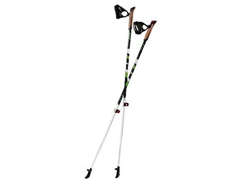CRIVIT® FX-Carbon-Nordic-Walking-Stöcke (Schwarz-Grün, 125 Zentimeter)