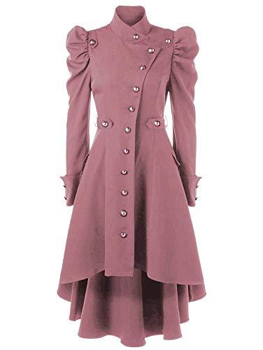 keepmore Damen Steampunk Gothic Mantel, Retro Viktorianischen Jacke Vintage Cosplay Kostüm Smoking Uniform Kleidung