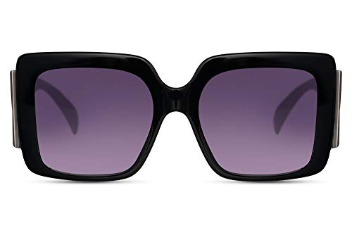 Cheapass Sunglasses - Gafas de sol para mujer, con cristales grandes, patillas extragrandes y marco ancho