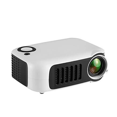 Support HD PROYECTOR Mini Micro PROYECTOR HD 1080 Portátil Full HD 1080P Compatible con USB HD SD AV VGA para el Cine en casa with Projection Function (Color : Gray, Size : 135 * 97 * 50mm)