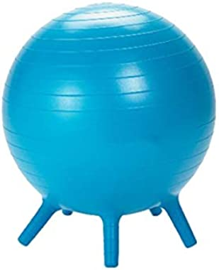 Guidecraft Yoga Ball Chair Blue: Kid's Balance Ball, Alternative Flexible Seating for Active Children in Home or Classroom, I