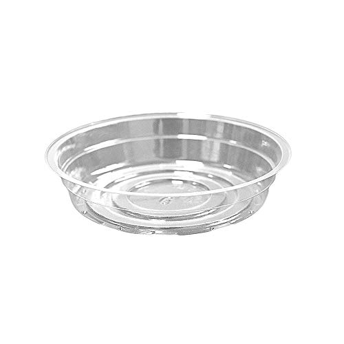 TRUEDAYS 6 Inch 5 Pack Clear Plant Saucers Flower Pot Tray Excellent for Indoor & Outdoor Plants
