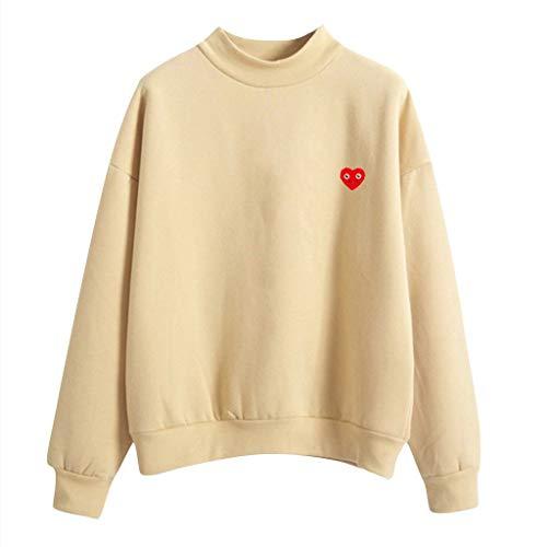 BIKETAFUWY Damen Pullover Casual Mädchen Kapuzenpullover Hoodie Sweatshirt Hoodies Elegant Kleidung Pullis Sweatshirt Streetwear Winterpullover Hip Hop Bluse