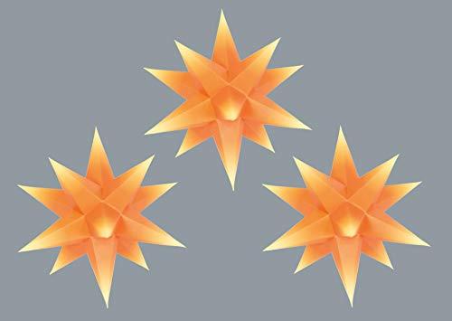 Marienberger Sterne Knebel Das Sterne-Set besteht aus DREI Papiersternen mit Innenbeleuchtung und Netzteil.