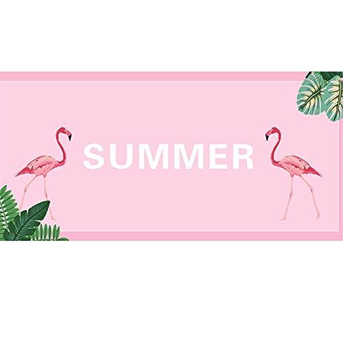 Flamenco Fruta Toalla de Playa de Microfibra, Absorbente Toalla de Baño, Toalla de Playa para Nadar, Deportes, Viajes, Toalla de Mano, de Fácil Cuidado(Rojo1,80x160cm)