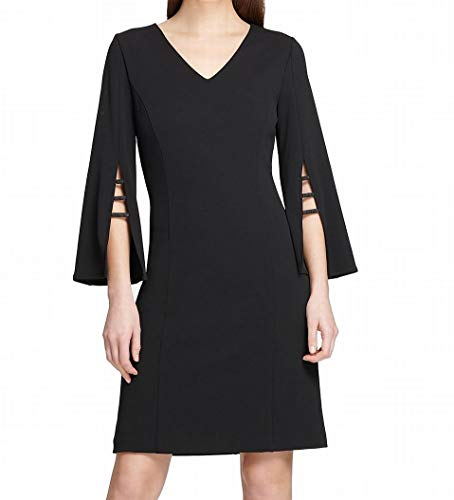 DKNY Womens Party Crepe Cocktail Dress Black 12