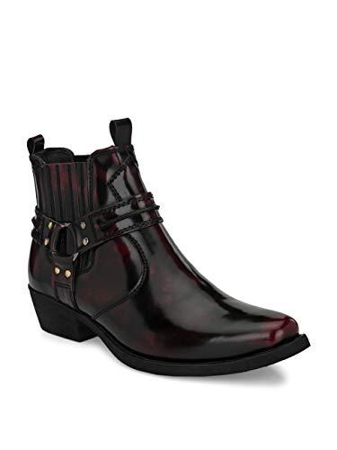 Delize Men's Cherry Cowboy ankle Boots