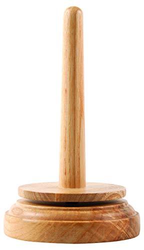 Groves Holzspinn garn und Fadenhalter, Holz, Braun, 9 x 9 x 16 cm