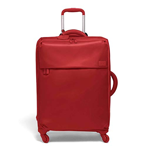 Lipault - Original Plume Spinner 65/24 Luggage - Medium Suitcase Rolling Bag for Women - Cherry Red