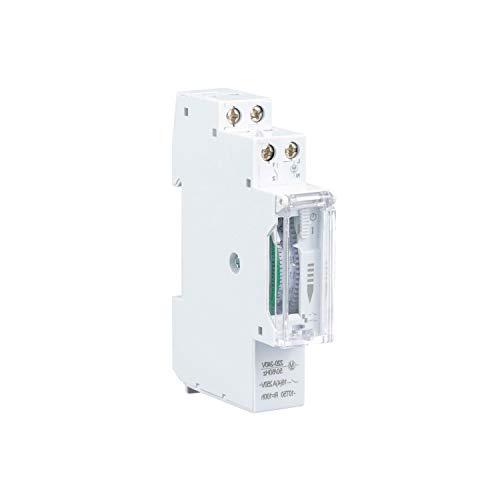 POPP Electric Temporizador diario analógico para montaje en panel, en pasos de 24 horas 15 min, 230 V, max. 3500 W. (Pack 10)