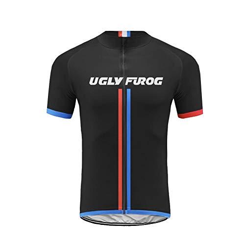 Uglyfrog 2019 Moda Maillot Ciclismo Hombre Verano Ropa Bicicleta con Manga Corta para MTB Bici Ciclista DXMX09