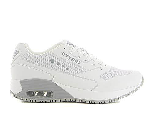 Oxypas ElaS4001lgr Ela SRC Arbeitsschuhe, Sportschuhe,White with Grey,40 EU