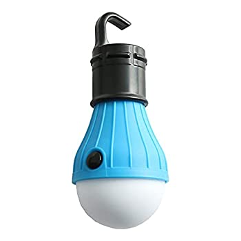 QiKun-Home Lumière de Tente de lumière de Camping sphérique étanche extérieure LED Crochet portatif Mini lumière de Camping d'urgence marché de Nuit Bleu Clair