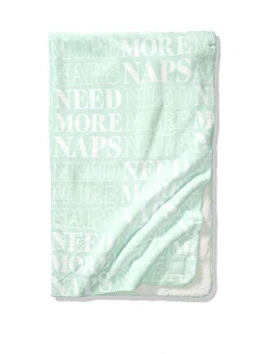 Victorias Secret Pink New Super Soft Sherpa Blanket Mint Frosting Nap Print