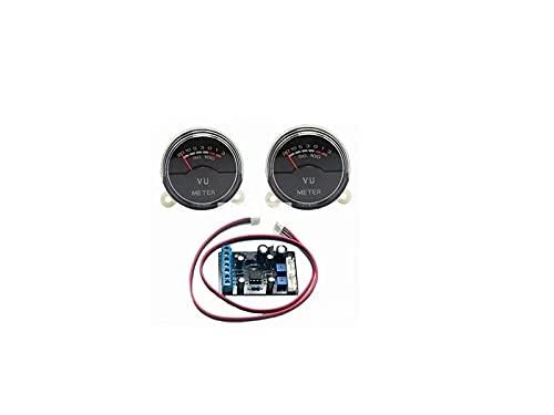 2x P-40SA VU medidor de ¨¢udio do conector de n¨ªvel de banco de dados com luz de fundo LED azul com 1 placa de driver