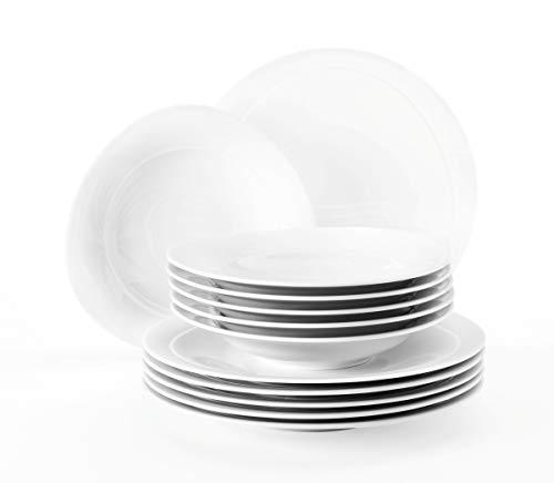 Seltmann Weiden 001.736894 Serwis stołowy 12-częściowy Trio biały